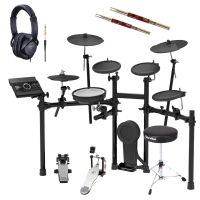 Roland TD-17K-L V‑Drums Electronic Drum Kit With Kick Pedal, Throne, Headphones, Stick X2