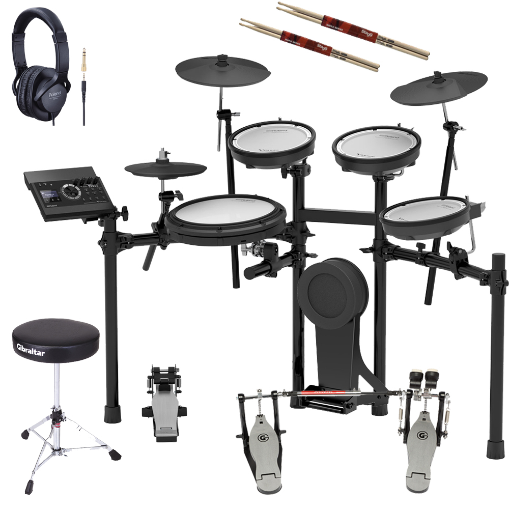 Roland TD-17KV V‑Drums Electronic Drum Kit With Kick Double