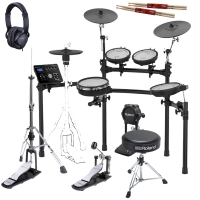 Roland TD-25K Electronic V-Drums KIT with Roland (Hi-Hat stand, Throne, Kick Pedal, Roland Headphones )Stagg Stick