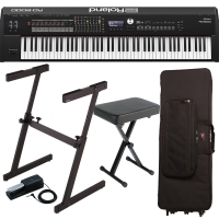 New Roland RD-2000 Portable Stage Piano 88 weighted key with Roland KS-10Z Stand, Gator Carrying Bag (with Wheels), X Bench