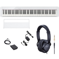 Casio PX-S1000 Privia Portable Digital Piano White with Roland RH5 Headphones