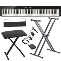 Casio PX-S1000 Privia Portable Digital Piano Black with X Stand, X Bench