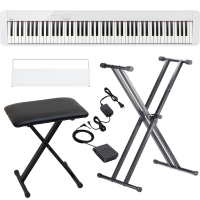 Casio PX-S1000 Privia Portable Digital Piano White with X Stand, X Bench