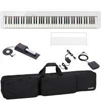CasioCasio PX-S1000 Privia Portable Digital Piano White with SP20 (Pedal), SC-800 (Carrying Bag)