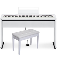 CasioCasio PX-S1000 Privia Portable Digital Piano White with CS-68(Cabinet Stand), Storage Bench