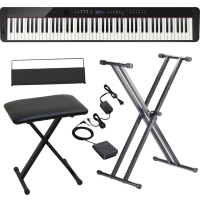 CasioCasio PX-S3000 Privia Portable Digital Piano Black with X Stand, X Bench