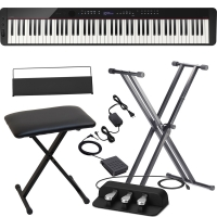 CasioCasio PX-S3000 Privia Portable Digital Piano Black with X Stand, X Bench, Casio SP-34 (3 Pedals)