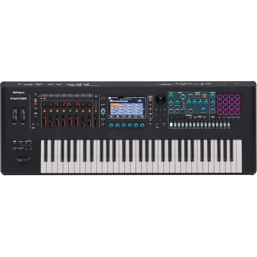 Roland Fantom 6 Music Workstation Keyboard 61 Keys (semi-weighted keyboard and channel aftertouch)